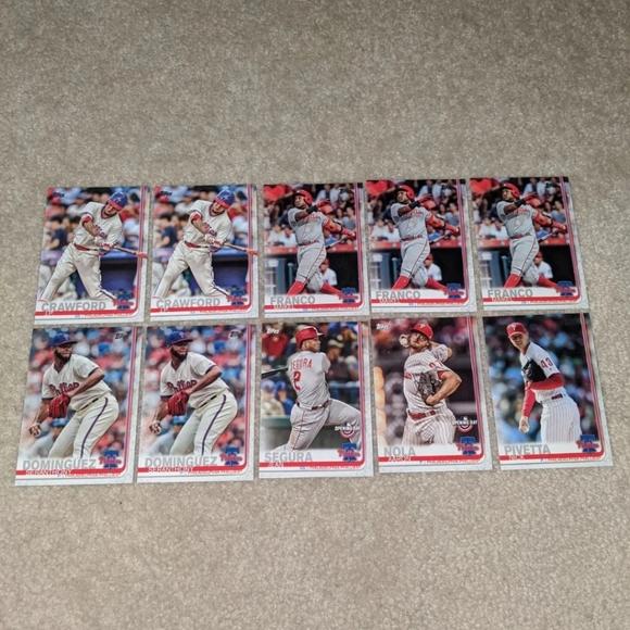 2019 Topps Philadelphia Phillies lot of 10 cards